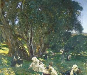 """""""Mbledhës shqiptarë të ullirit"""", titullohet një tablo e njërit prej piktorëve më të shquar amerikanë të të gjitha kohërave, John Singer Sargent"""
